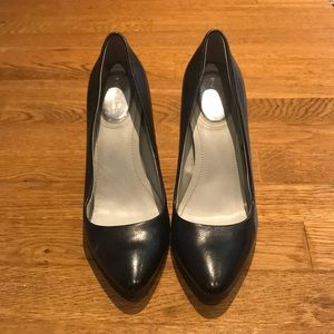Calvin Klein Pointy Toe Leather Pumps